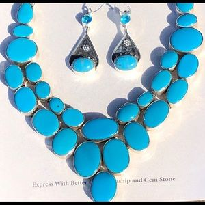 🔥SET🔥Turquoise Necklace & Earrings